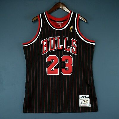 b3aa3e4e8a6c 100% Authentic Michael Jordan Mitchell Ness 96 97 Bulls Jersey Size 52 2XL  Mens