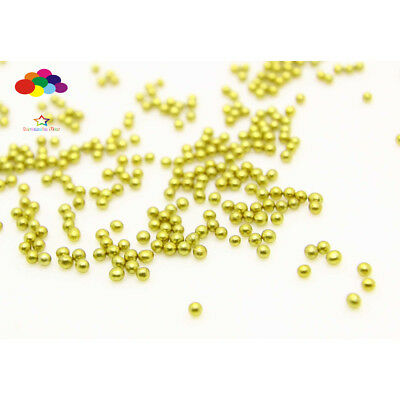Bronze 1000 pcs Glass small Beads No Hole 1.5-2mm Nail Art Caviar