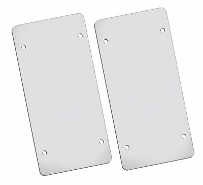Flat Clear License Plate Cover - 2 Pack of Heavy-Duty Shields - UBREAKABLE