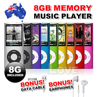 "8GB Memory iPod Style 1.8"" LCD MP3 MP4 Music Video Media Player With FM Radio"