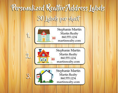 Personalized REALTOR / REAL ESTATE Address Labels, 30 Per Sheet, Sold House