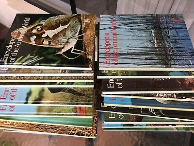 Encyclopedia of the Animal World Full Set Children Adults Vintage 1977 21 Vols