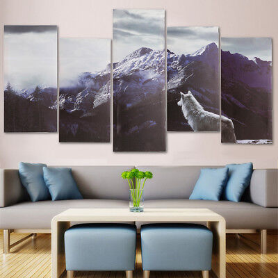 5Pcs/Set Modern Abstract Canvas Print Painting Picture Wall Mural Decor Framed