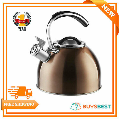 Morphy Richards 3L Stove Top Whistling Kettle Stainless Steel Copper - 974758
