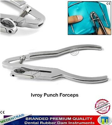Orthodontic Dental Endodontic Rubber Dam Ivory Punch Clamps Forceps Restorative