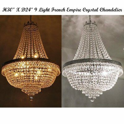 French Empire Crystal Chandelier Lamp Chandeliers Lighting