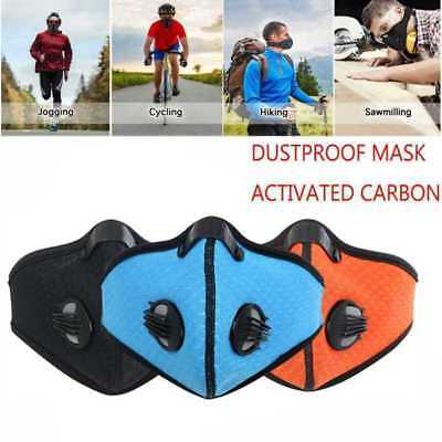 Respirator Mask Dust Proof Filtered Activated Carbon Filtration Half Face NEW