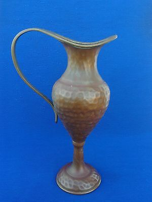 Vintage Judaica Pal Bell Bronze Oil Jug For Hanukkah Menorah Lamp By M Ascalon