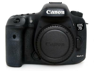Canon EOS 7D Mark II 20.2MP Digital SLR Camera Black Body Excellent Japan F/S