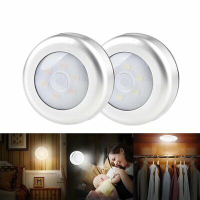 LED Night Light PIR Motion Sensor Infrared Wireless Battery Powered Wall Lamp BK