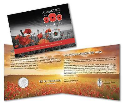 Armistice Day Red Poppy 2018 50c Commemorative Coin Pack