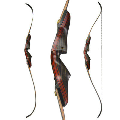 """62"""" Archery American Hunting Bow Takedown Recurve Bow Wooden 20-50lbs"""