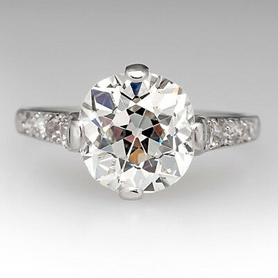 5.50 Ct Round Cut Diamond Solitaire Engagement Wedding Ring 14k White Gold