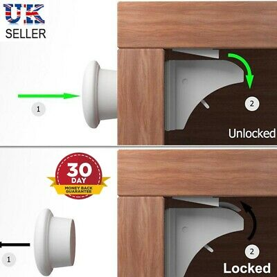 Magnetic Safety Invisible Cupboard Lock Baby Child Pet Proof Drawer Security UK