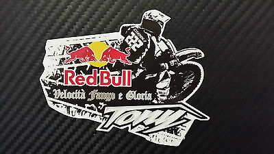 Tony Cairoli 222 red bull adesivo stickers tributo adesivi MX1 WORLD CHAMPION