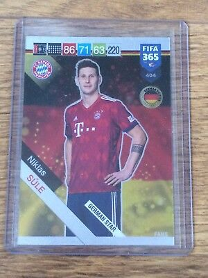 Niklas Sule 2019 Panini Adrenalyn Xl Fifa 365 German Star W/code#404