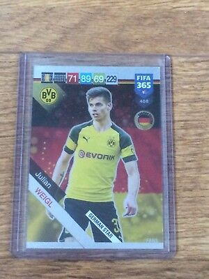 Julian Weigl 2019 Panini Adrenalyn Xl Fifa 365 German Star W/code#408