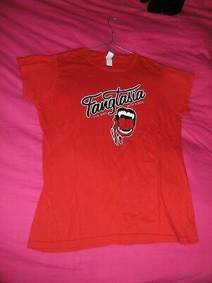 TRUE BLOOD girly shirt FANGTASIA red size M