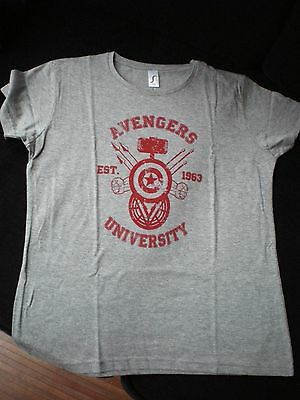 AVENGERS UNIVERSITY tshirt girly MARVEL - NEUF JAMAIS PORTÉ ! Thor, Iron Man