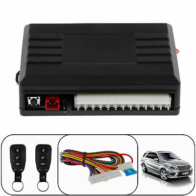 Universal 2 Car Remotes Central Door Locking Vehicle Keyless Entry System Kit UK