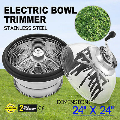 "Hydroponics Electric 24"" Trimmer Bowl Leaf Spin Pro Tumble Bud Machine Cutter"