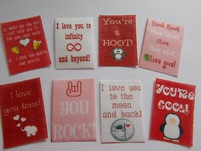 16 PRECUT edible wafer/rice paper Valentine tags cake/cupcake toppers (2)