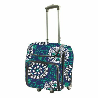 Craft Rolling Tote- Blue Damask