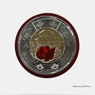 2018 Canada 2$ Toonie Commemorative Day ARMISTICE Coin Color BU From Roll