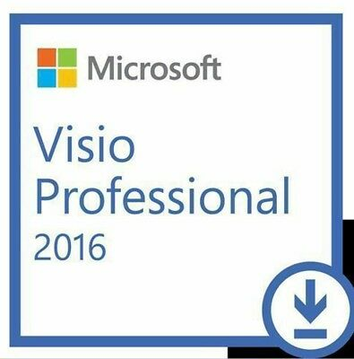 Microsoft Visio 2016 Professional for PC Online 100% Genuine for 1 PC