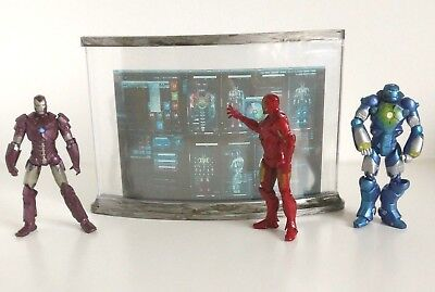 "Iron Man Screen Diorama Piece For Marvel Universe Action Figure 3.75"" Iron Man"
