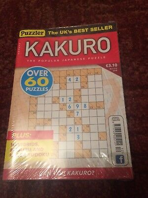 Puzzler Kakuro puzzle book Issue 112 or 113 -2 Issues Available YoU Choose