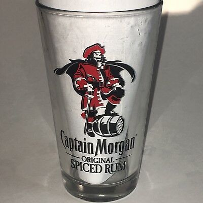 Captain Morgan Glass with recipes on back