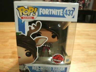 Funko Pop! Red Nosed Raider # 437 Red Nose Fortnite EB Games Exclusive