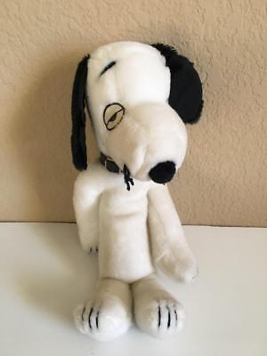 "Vintage 1975 70's Peanuts Snoopy Cousin Brother Spike plush 12"" with collar!"
