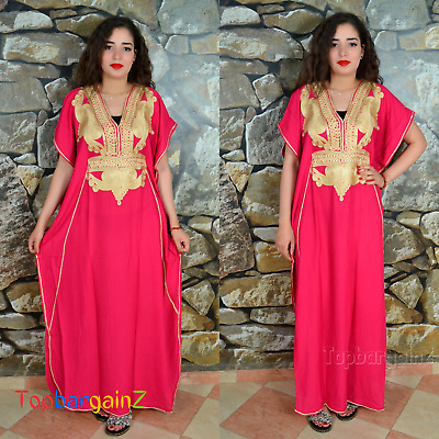 Kaftan Ladies Womens Maxi Dress Moroccan Caftan Full Length Batwing Farasha Size