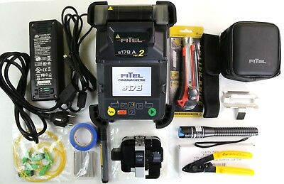 FITEL S178A-V2 SM MM FIBER FUSION SPLICER w/ CLEAVER FURUKAWA S326 LOW ARC