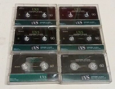 6 units cassette Sony UX-S, used