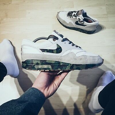 new product 0167f f45df Nike Air Max 1 Olympia Pack Custom Camo selten 1 of 1 44,5 US