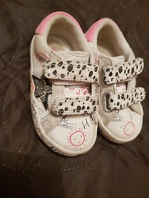 Girls Next Shoes Trainers Size Infant 4 White And Pink