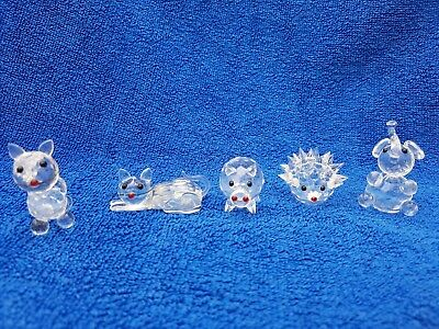 Solid Crystal Animals (5 In Total)