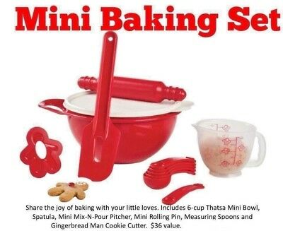 Brand New Tupperware Kids Mini Baking Set