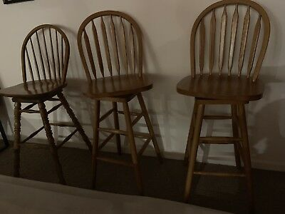 Bar Stools That Swivels Buy One Or Four Used 45.00 Each Or Best Offer