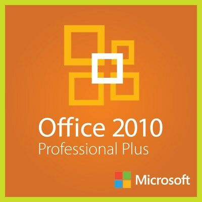 Microsoft Office 2010 Professional Plus 1 PC Windows Lifetime Multilingual Pro E