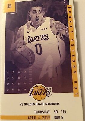 2 LA Lakers Vs Golden State Warriors! 4/4/2019 Section 110