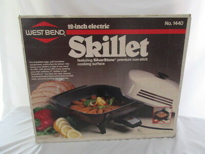 NEW OLD STOCK Vintage 1987 WEST BEND Non-Stick 12 Electric Skillet #1440 NEW