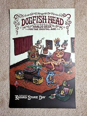2017 Record Store Day RSD Dogfish Head Poster Rare Promotional 21 x 14 NEW Beer