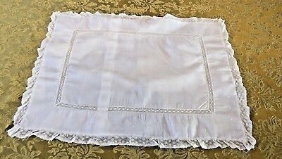 Vintage Baby Pillowcase Infant Nursery Lace Embroidery Feltmans Bros