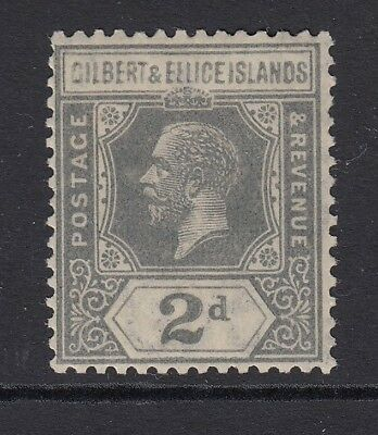 GILBERT AND ELLICE ISLANDS   KGV  2D greish slate SG14 - mounted mint