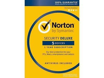 Norton Security Deluxe 5 Devices instant digital delivery