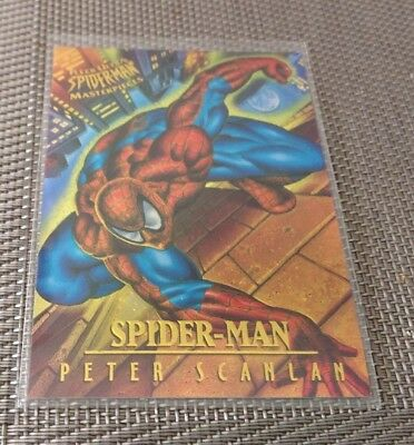 SPIDER - MAN 1995 FLEER ULTRA MASTERPIECES INSERT CARD No 6 PETER SCANLAN